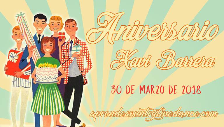Aniversario Xavi Barrera, 30 de marzo de 2018