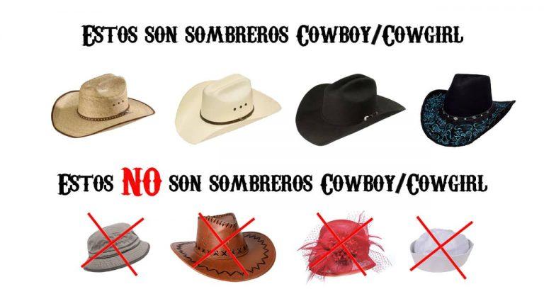 Los que son sombreros cowboy y los que no lo son