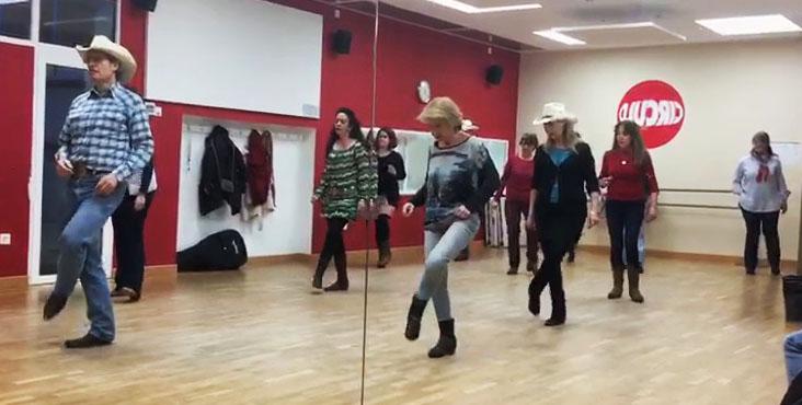 Enseñar a bailar Aprende Country Line Dance - Espejo