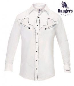 Ropa Country - Corbetos - Camisa basica estilo vaquero hombre Ranger's color blanco - 53 €