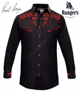 Ropa Country - Corbettos - Camisa vaquera para hombre con calaveras bordadas colección Rarael Amaya - 85 €