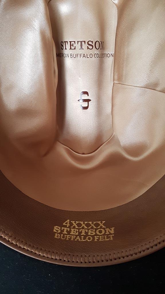 Sombrero Stetson de fieltro de búfalo
