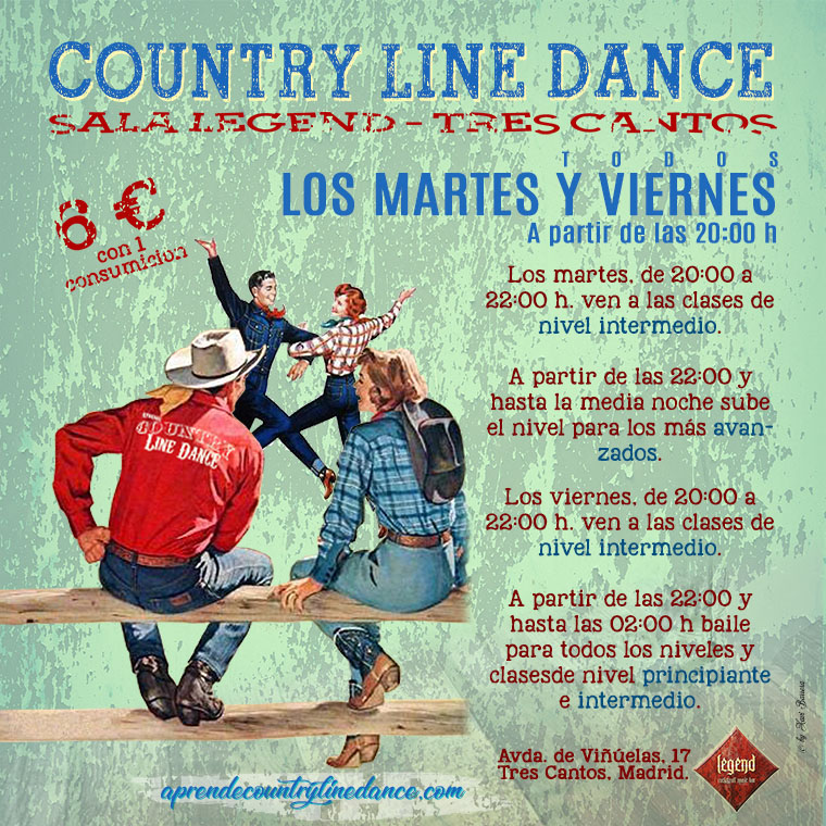 Country Line Dance en la Sala Legend