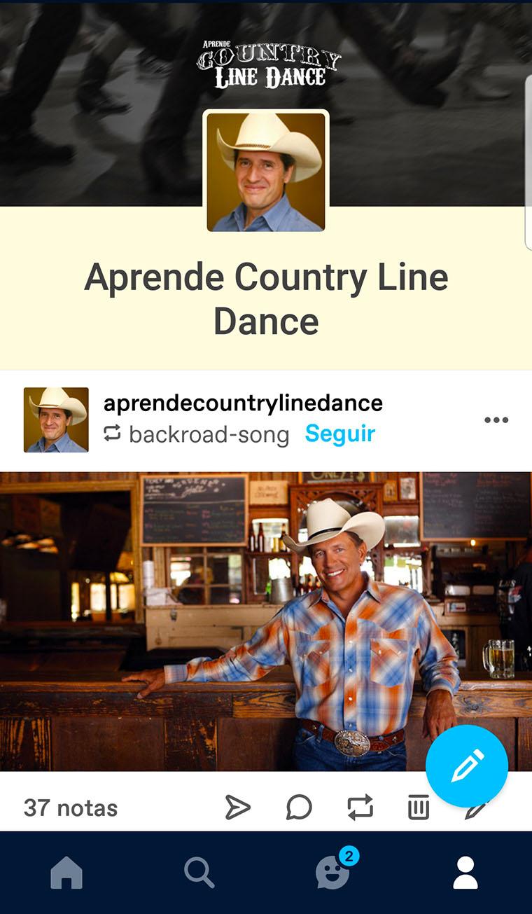 Página de Aprende Country Line Dance en Tumblr