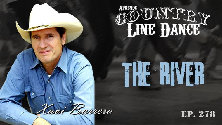 THE RIVER line dance - Carátula vídeo tutorial