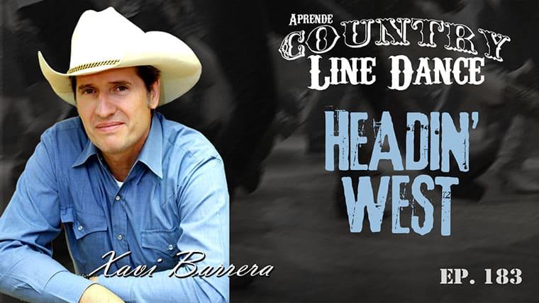 HEADIN' WEST Country Line Dance - Carátula vídeo tutorial