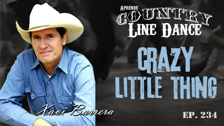 CRAZY LITTLE THING Country Line Dance - Carátula vídeo tutorial